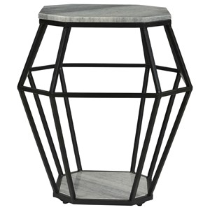 Contemporary Octagonal Accent Table