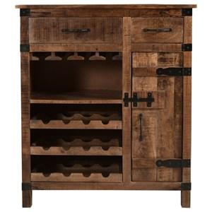One Door Two Drawer Wine Cabinet