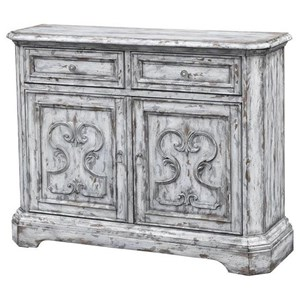 Vintage Style Two Door, Two Drawer Media Cabinet