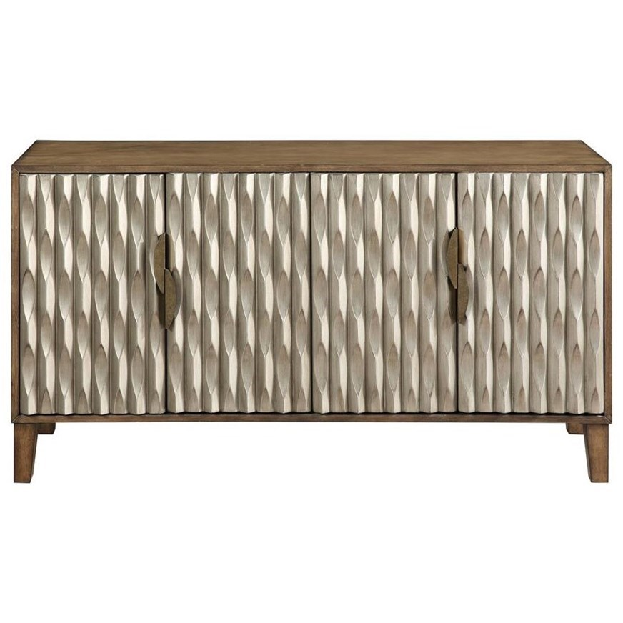 Coast to Coast Accents 4-Door Media Credenza by Coast to Coast Imports at Powell's Furniture and Mattress