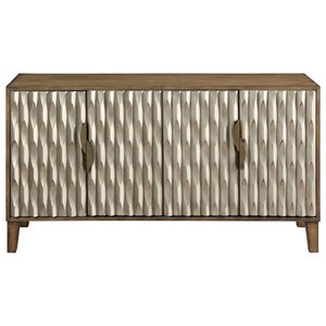 Contemporary 4-Door Media Credenza
