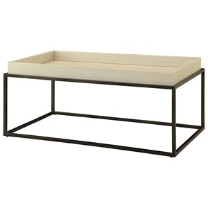 Coast to Coast Imports Coast to Coast Accents Tray Top Rectangular Cocktail Table