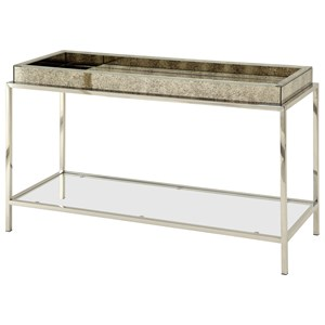 Coast to Coast Imports Coast to Coast Accents Tray Top Console With Glass Shelf