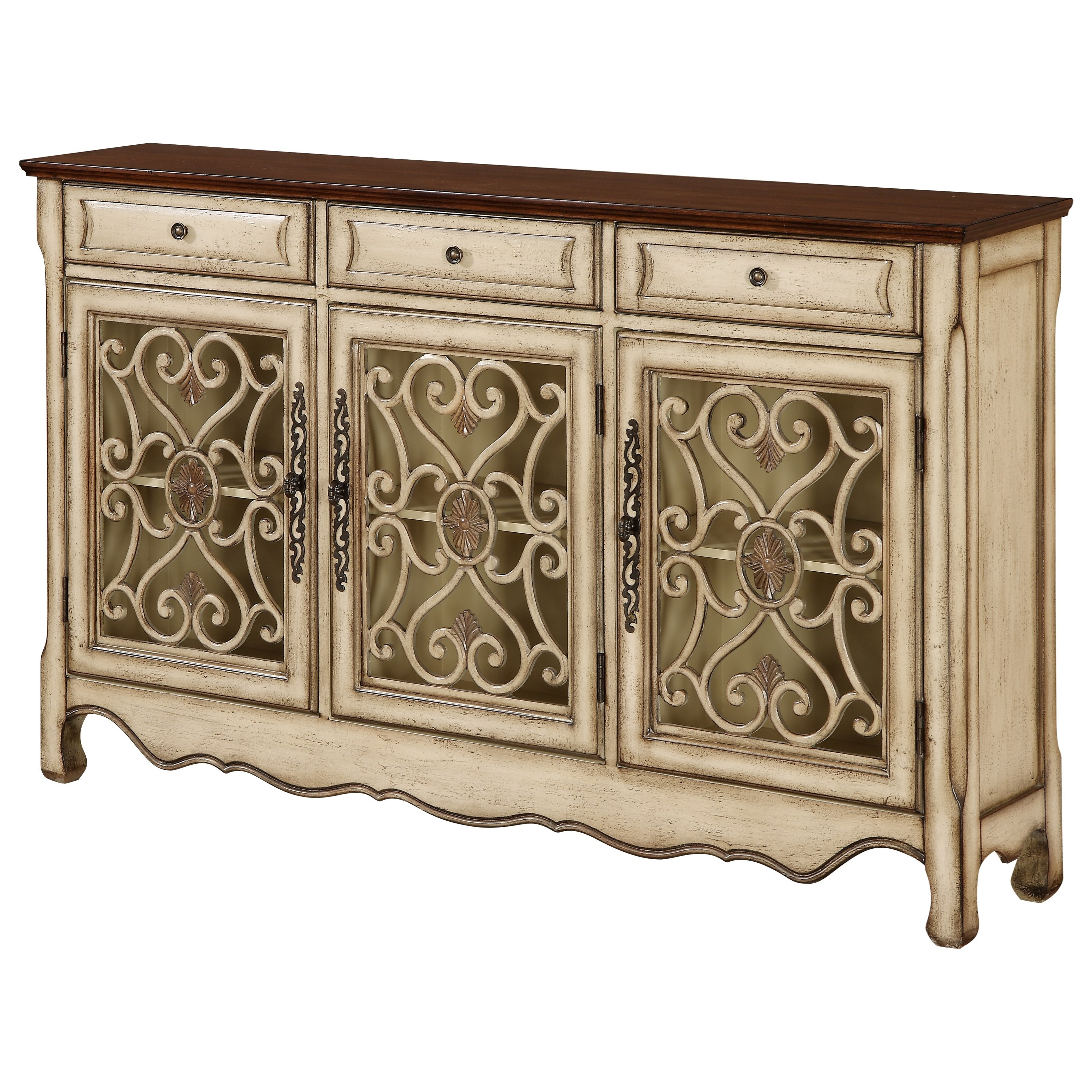 Coast to Coast Accents Three Drawer Three Door Credenza at Williams & Kay