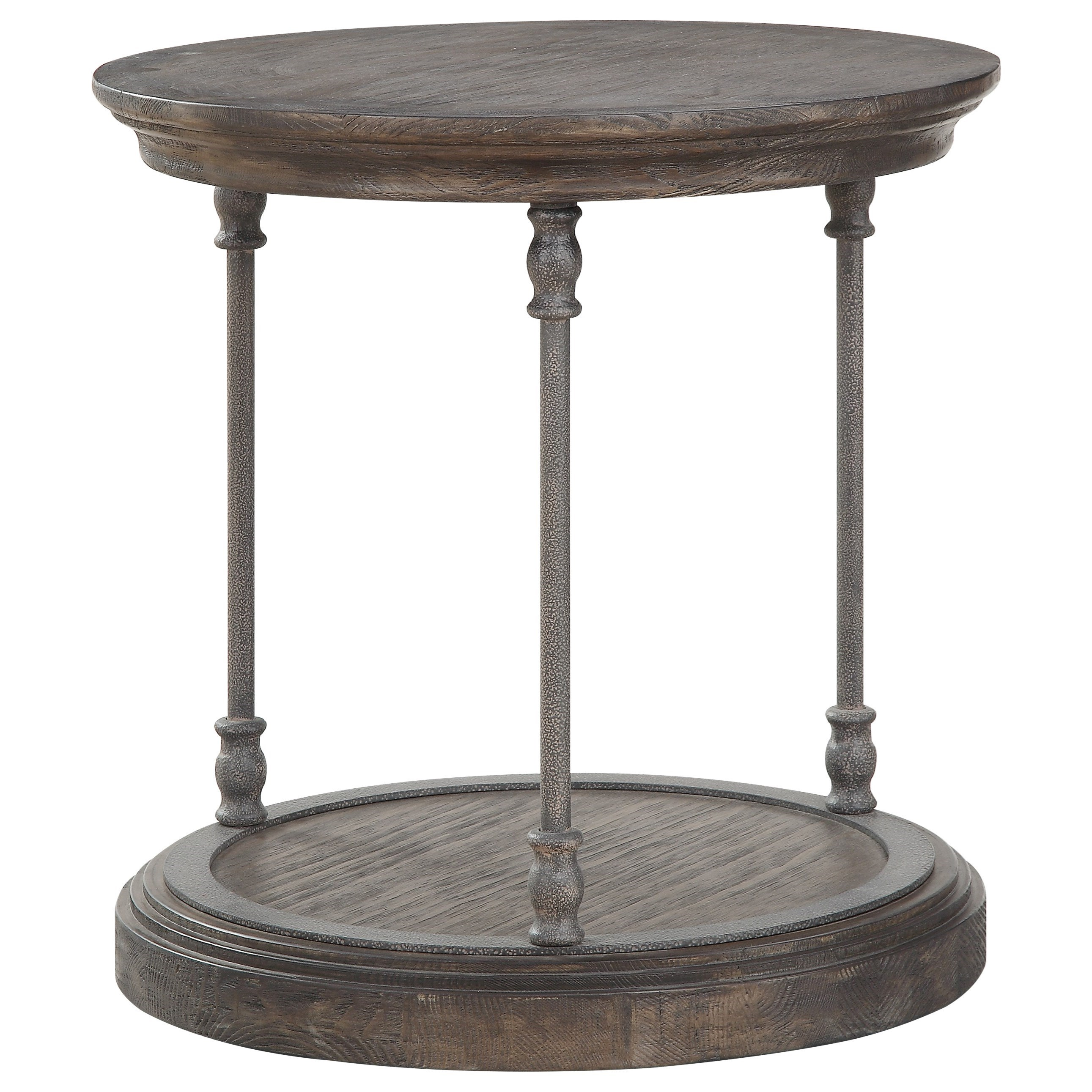 Corbin Round End Table by C2C at Walker's Furniture