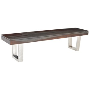 Stainless Steel Base Dining Bench