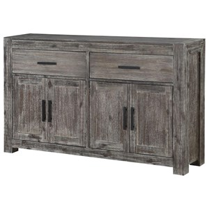 Transitional Credenza with 2 Drawers