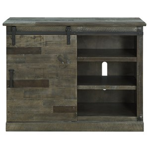 Industrial Sliding Barn Door TV Stand