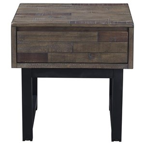 Industrial One-Drawer End Table
