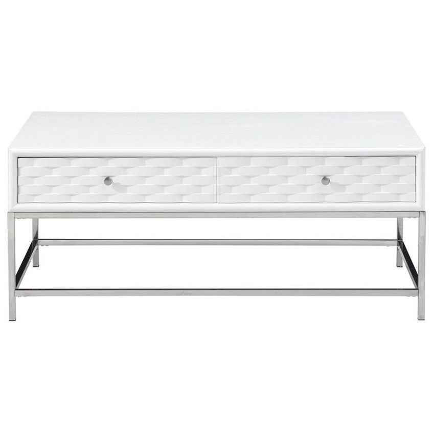 Islander Four Drawer Cocktail Table by Coast to Coast Imports at Johnny Janosik