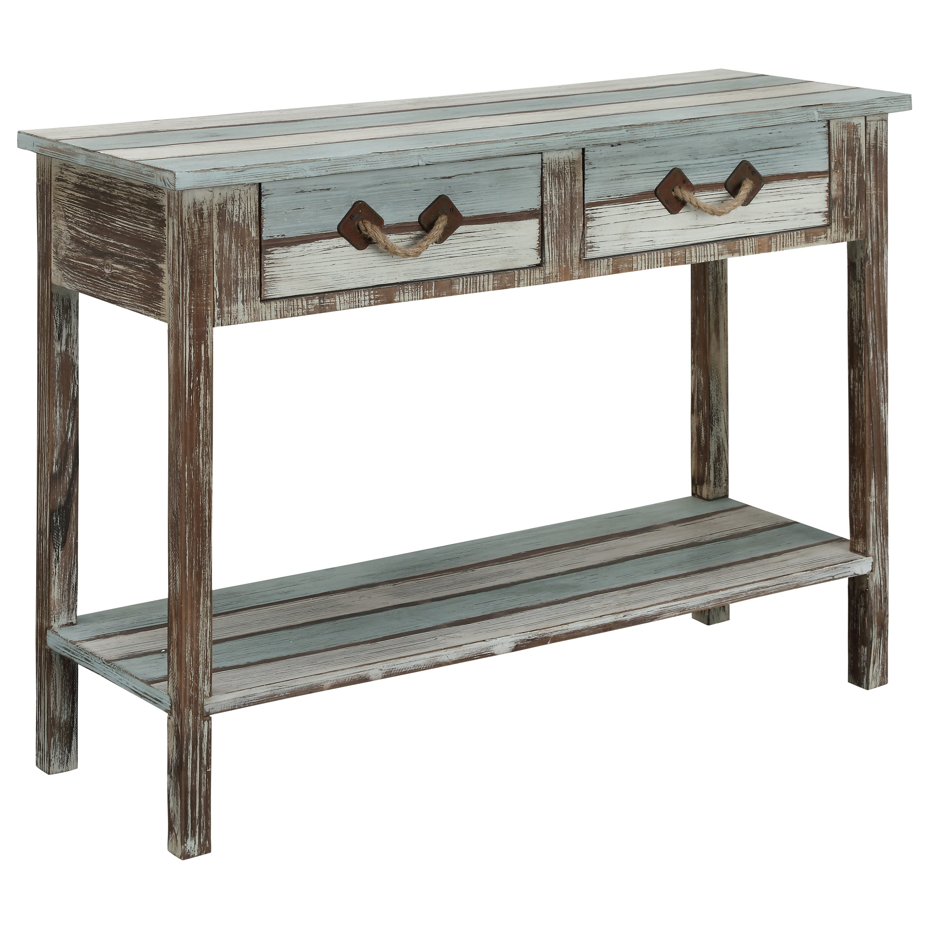 Islander Two Drawer Console Table by Coast to Coast Imports at Bullard Furniture
