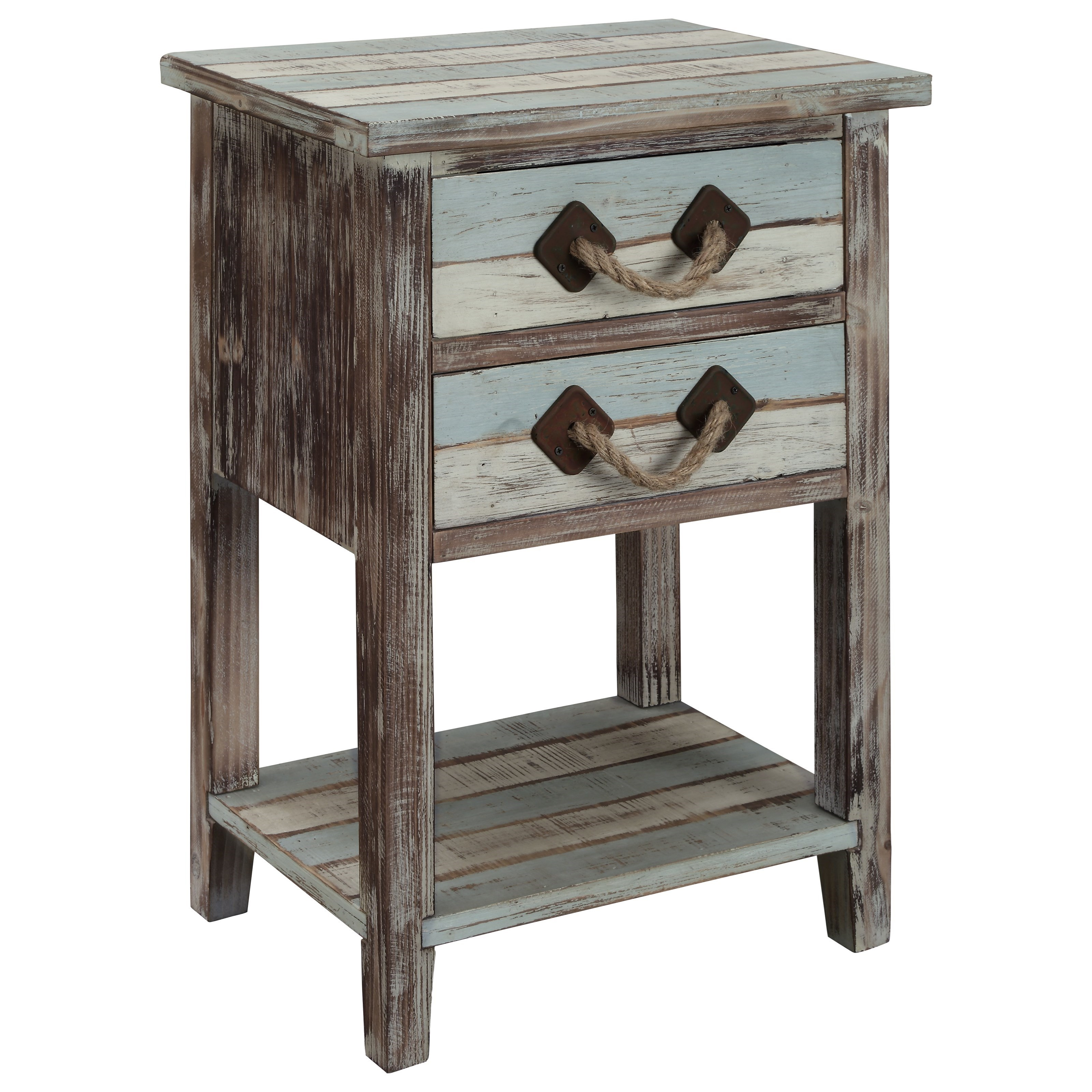Islander Two Drawer Accent Table by C2C at Walker's Furniture