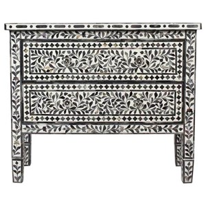 Contemporary Two Drawer Accent Chest