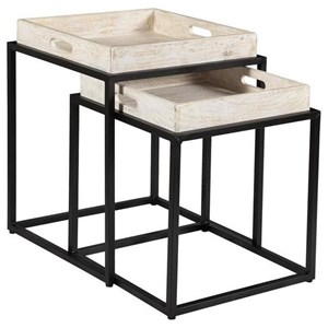 Set of Two Contemporary Nesting Tables