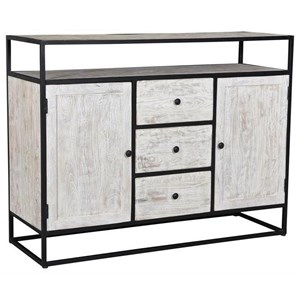 Contemporary Two Door Three Drawer Media Cabinet
