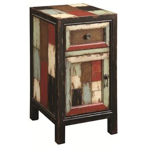 Coast to Coast Imports Occasional Accents Rustic Chairside Cabinet with Drawer