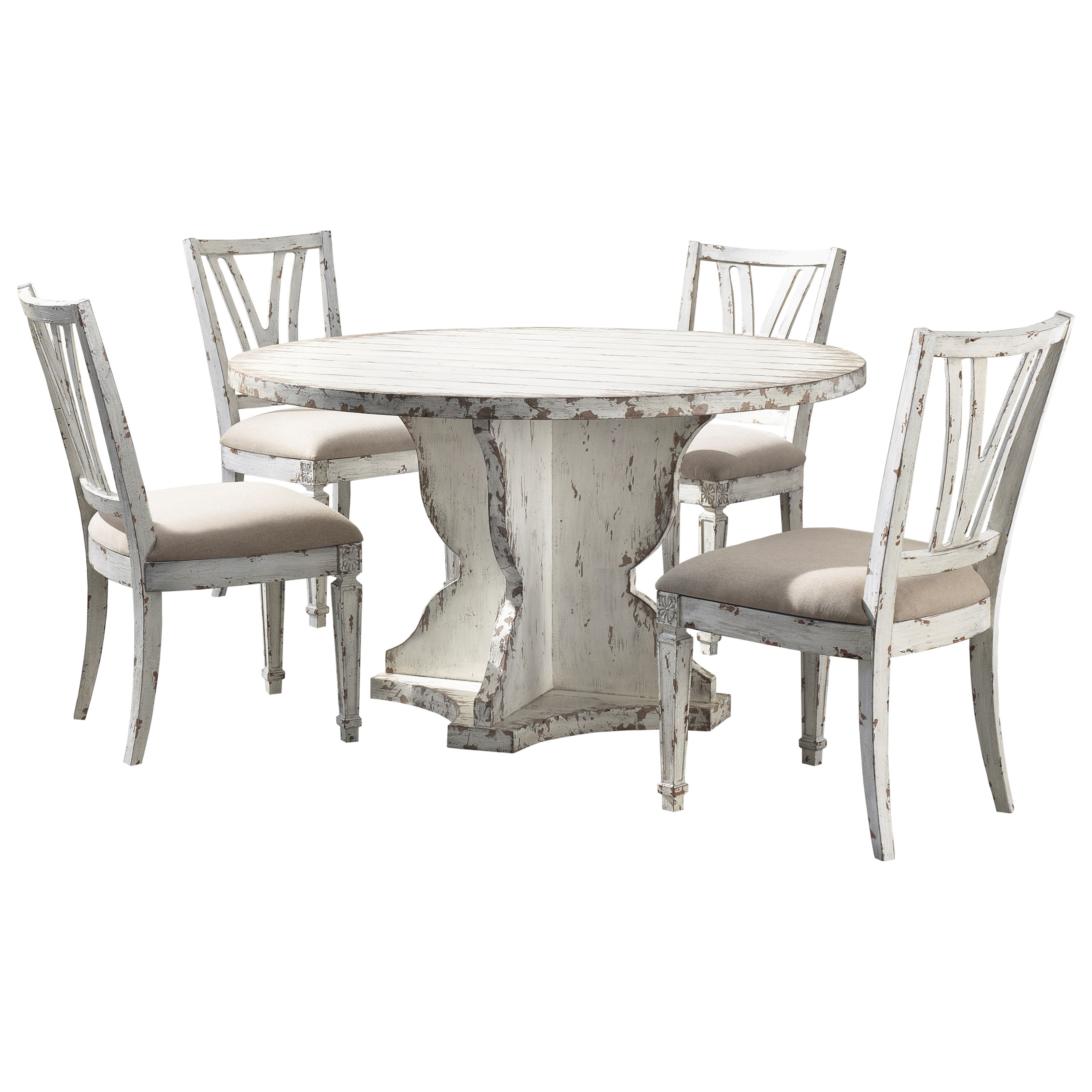 Olivia 5-Piece Table and Chair Set by C2C at Walker's Furniture