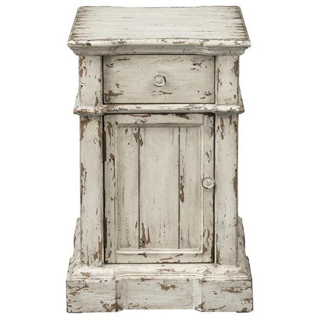 Olivia One Drawer One Door Chairside Table by C2C at Walker's Furniture