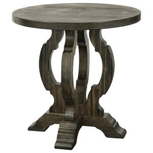 Traditional Round Accent Table