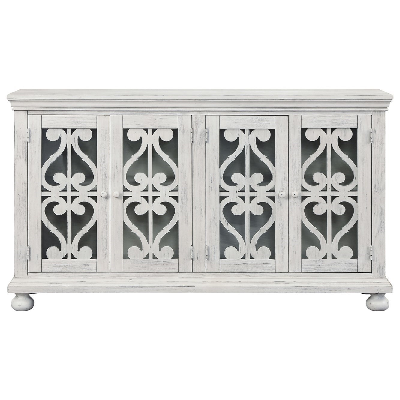 Orchard Park Four Door Media Credenza by Coast to Coast Imports at Baer's Furniture