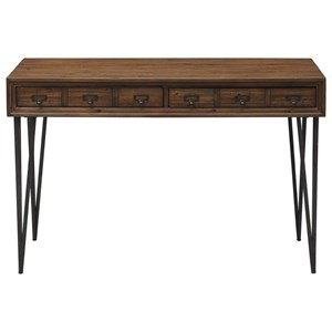 Relaxed Vintage Writing Desk/Console Table with Distressed Finish