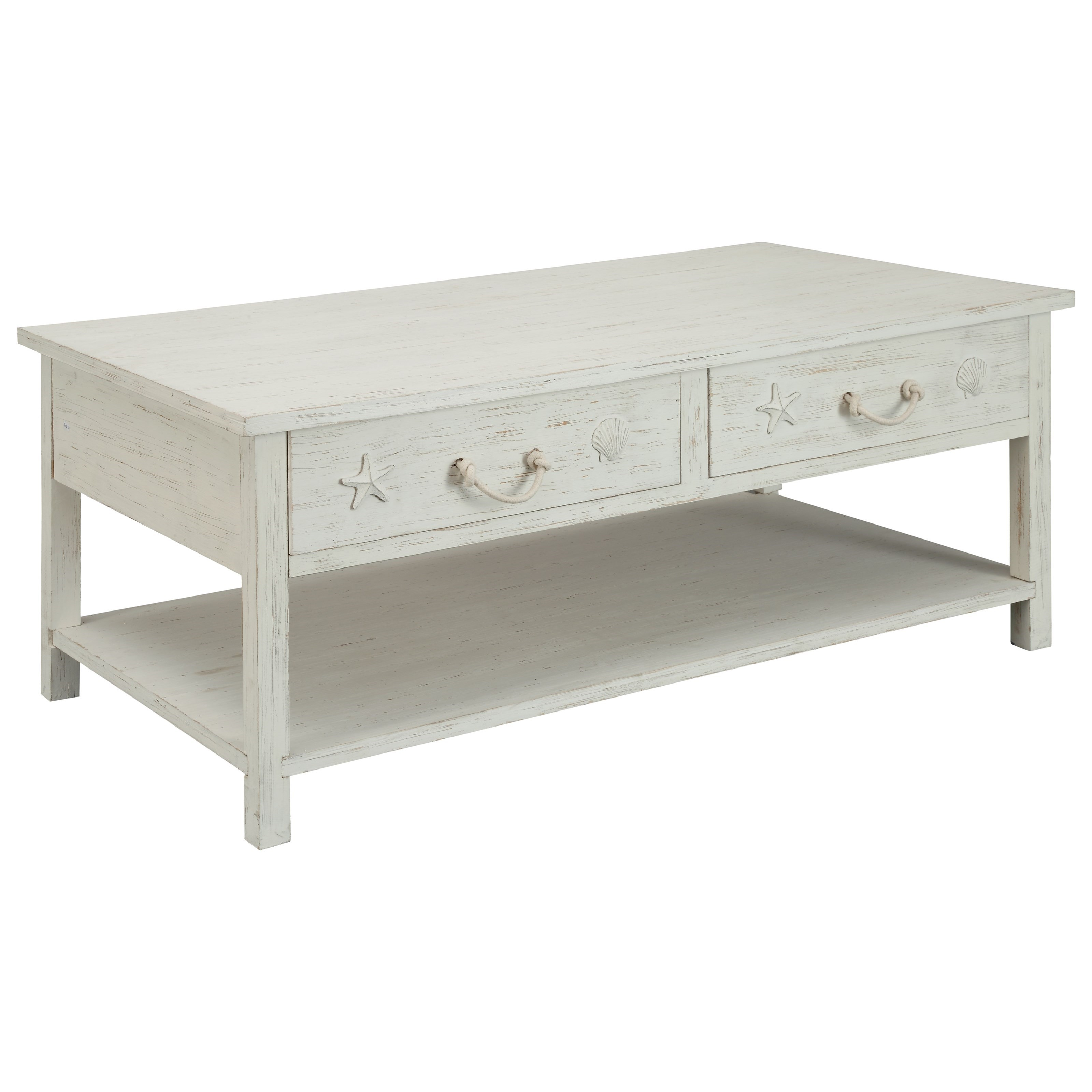 Sanibel Sanibel Four Drawer Cocktail Table by Coast to Coast Imports at Johnny Janosik