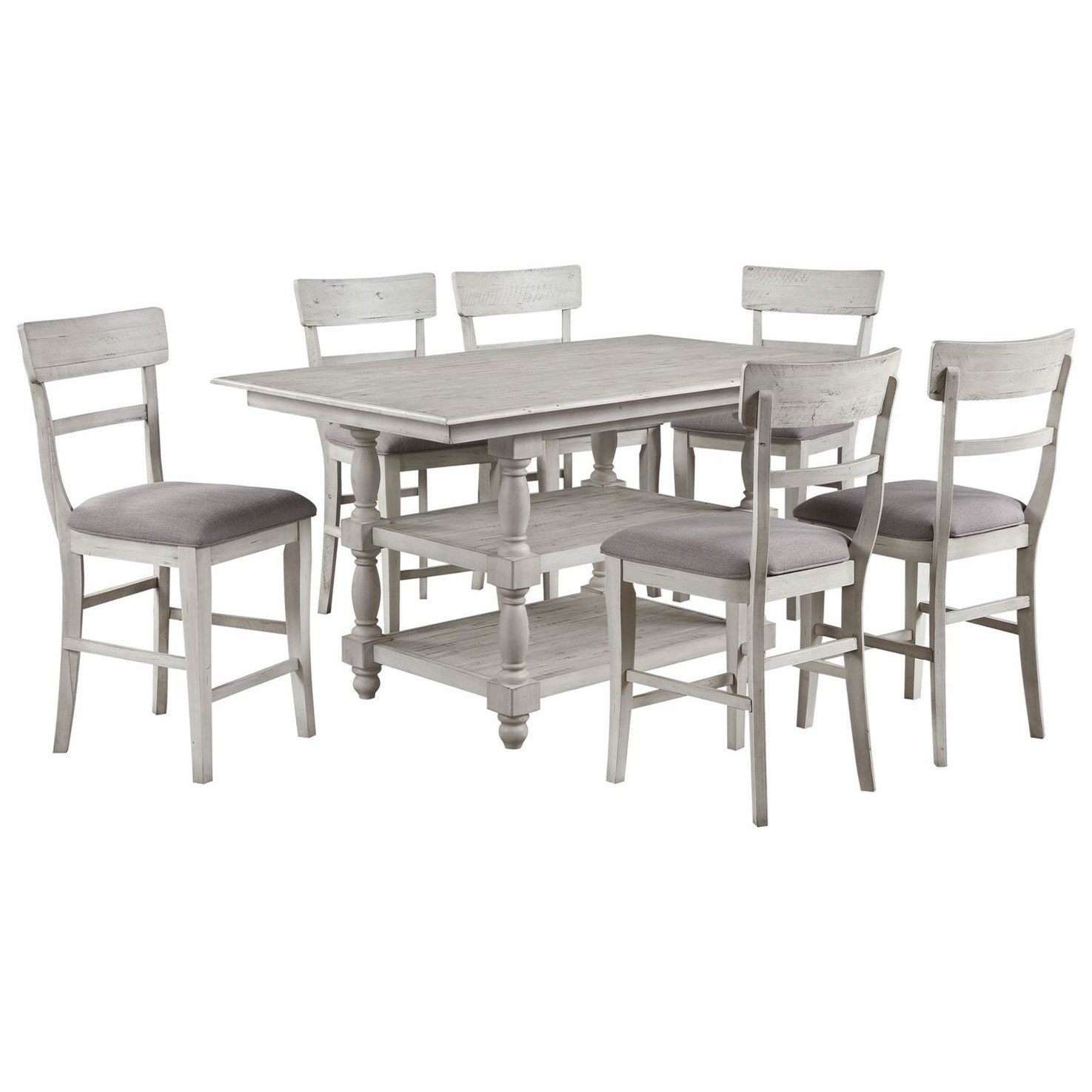 Santa Clara 7-Piece Table and Chair Set by Coast to Coast Imports at Baer's Furniture