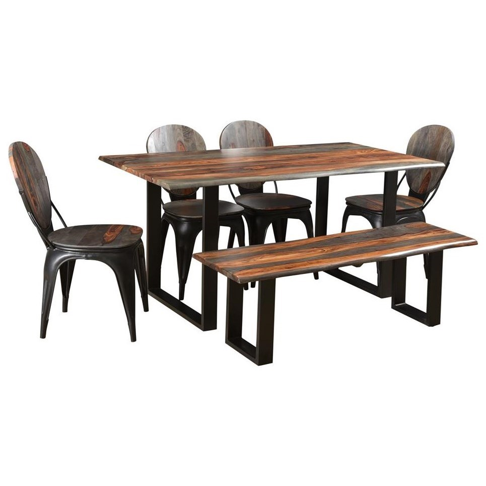 Sierra II 6-Piece Dining Set by Coast to Coast Imports at Prime Brothers Furniture