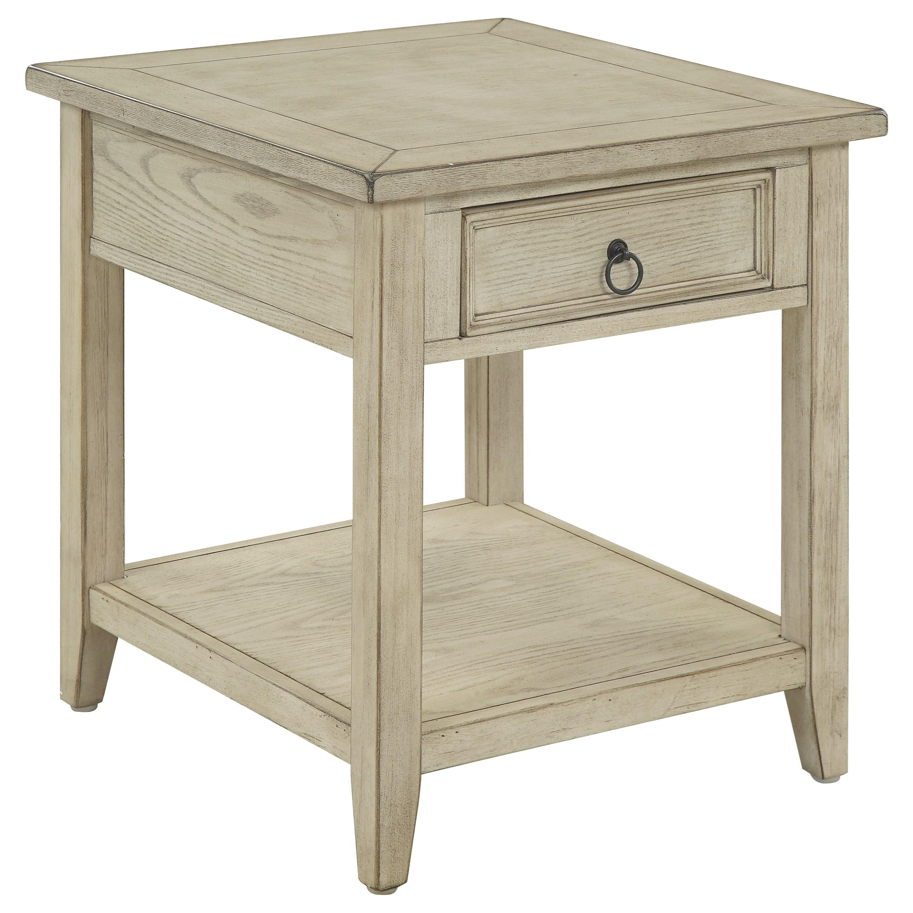 Summerville One Drawer End Table by C2C at Walker's Furniture