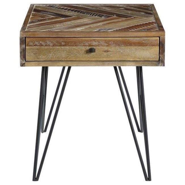 Vail One Drawer End Table by C2C at Walker's Furniture