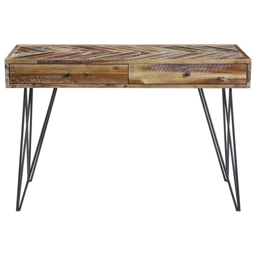 Vail Two Drawer Console Table by C2C at Walker's Furniture