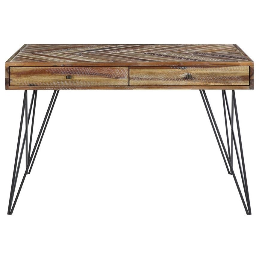 Vail Two Drawer Writing Desk by C2C at Walker's Furniture