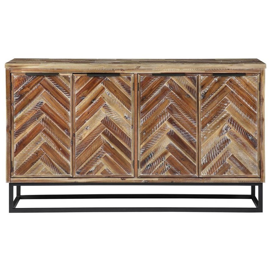 Vail Four Door Media Credenza by C2C at Walker's Furniture