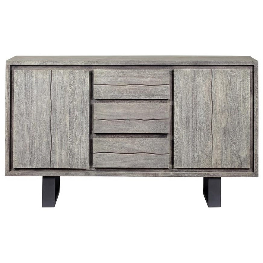 Yukon Two Door Three Drawer Credenza by Coast to Coast Imports at Baer's Furniture