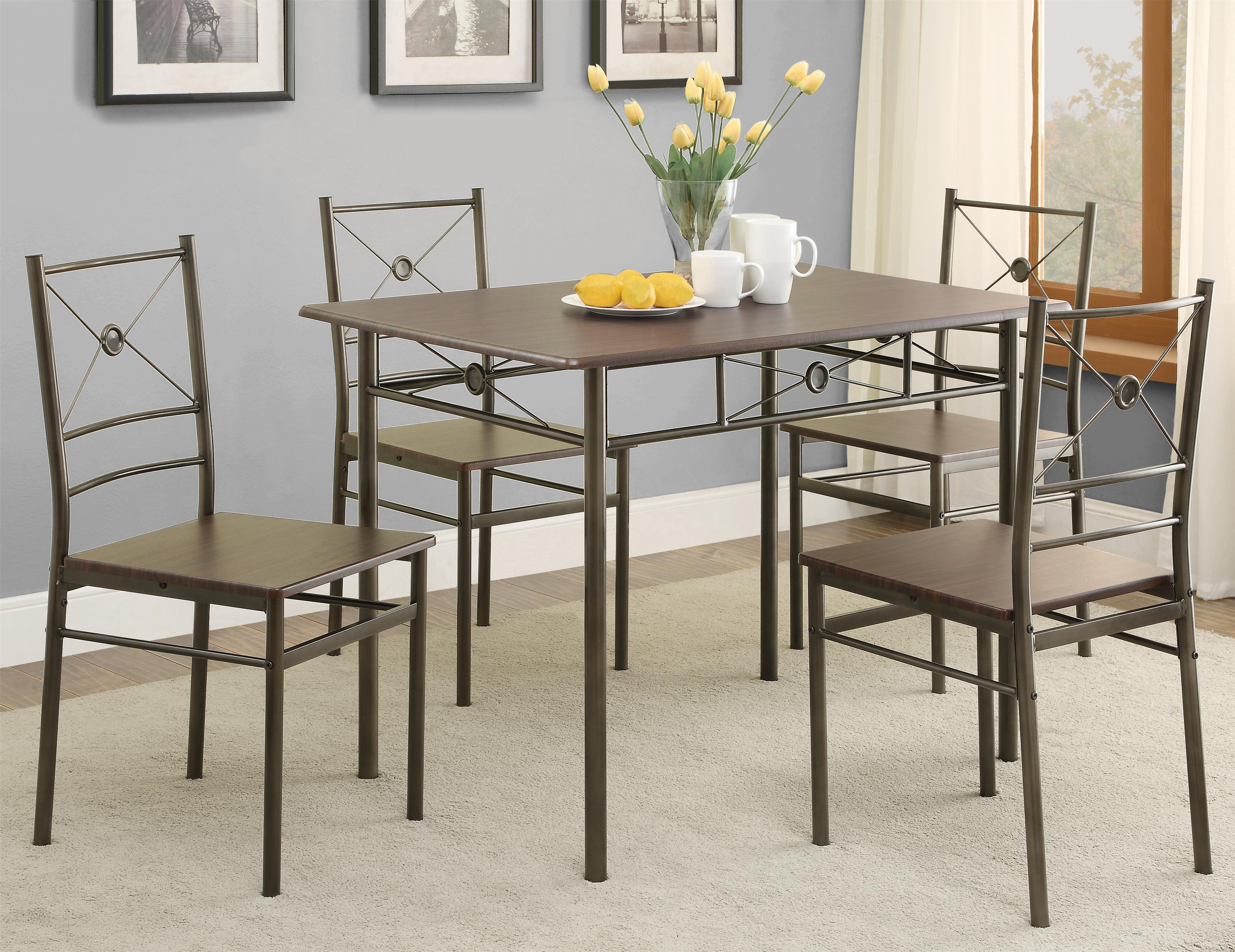 100033 5 Piece Dining Group by Coaster at Corner Furniture