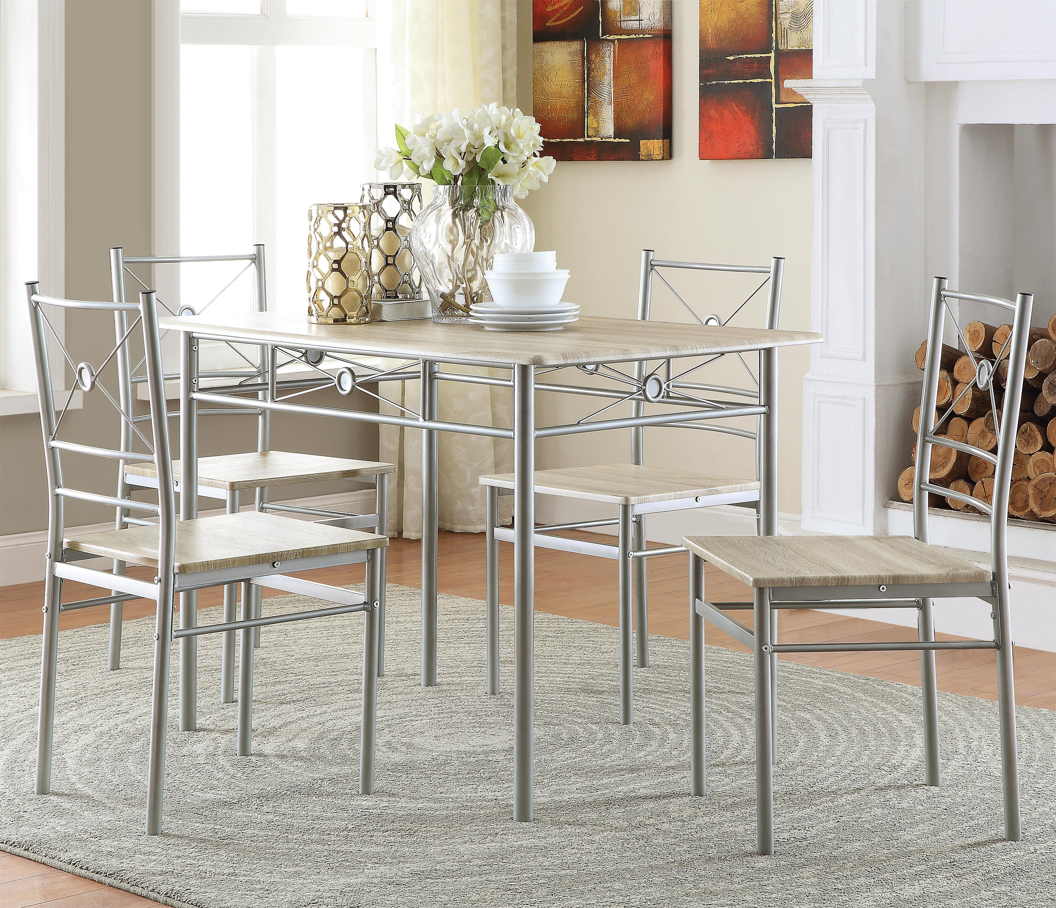 100035 5 Piece Dining Group by Coaster at Furniture Superstore - Rochester, MN