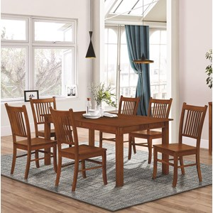 Mission Style 7 Piece Dining Set