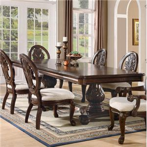 Traditional Rectangular Double Pedestal Dining Table