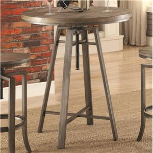 Industrial Bar Table with Swivel Adjustable Height Mechanism