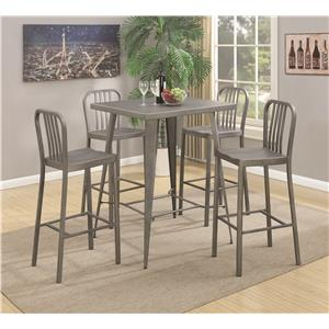 Coaster 10593 5 Piece Bar Table Set