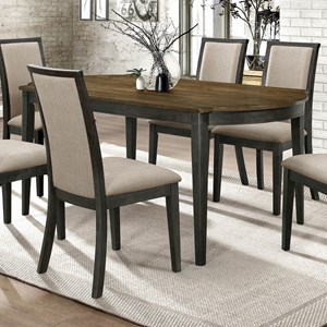 Transitional Dining Table with 2-Tone Finish