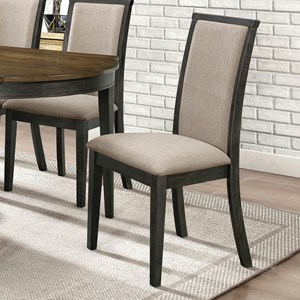 Transitional Dining Chair with Upholstered Seat and Back