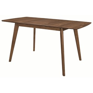 Mid-Century Modern Dining Table with Butterfly Leaf