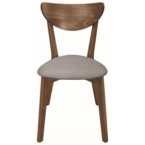 Mid-Century Modern Side Chair with Upholstered Seat