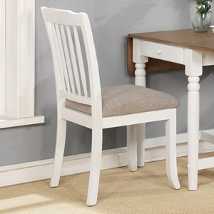 Casual Dining Chair with Slat Back