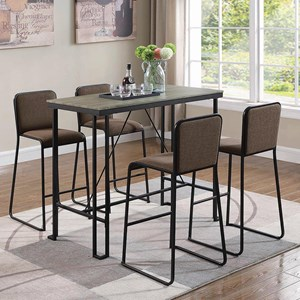 Five Piece Industrial Pub Dining Set
