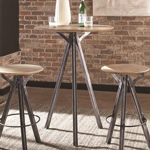 Bar Table with Wood Top