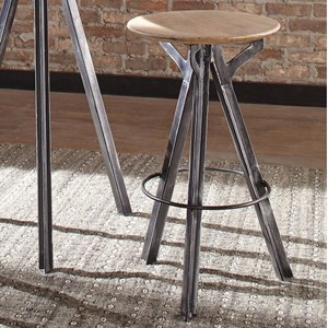 Bar Stool with Solid Mango Wood Top