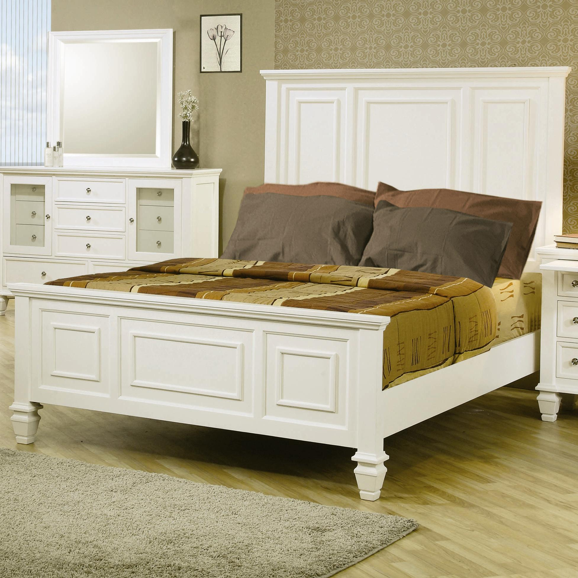 Sandy Beach Queen Headboard & Footboard Bed by Coaster at Rooms for Less