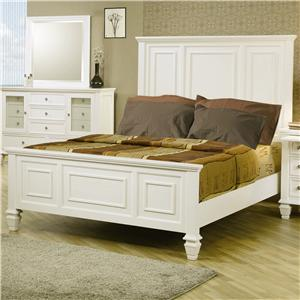 Classic Queen High Headboard Bed